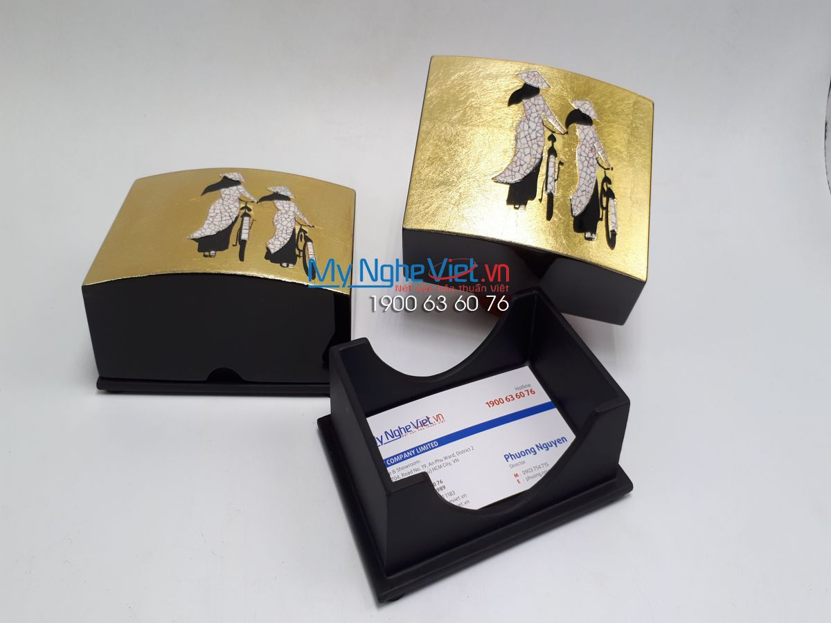Lacquer Name Card Box 11X8X5